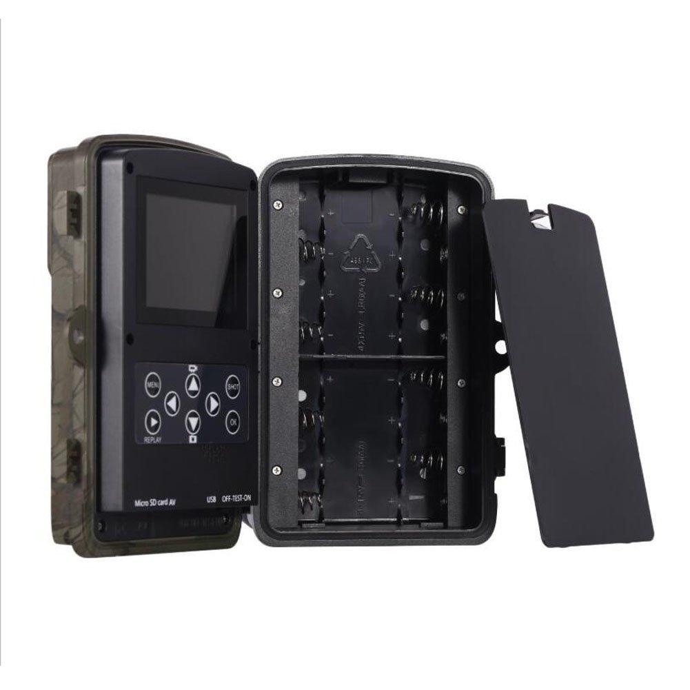 DSstyles 1080P 16MP デジタル野生動物狩猟ゲームカメラ IP56 防水アクションカメラ 120° PIRセンサー付き グロー赤外線ナイトバージョン B07KF9TB41