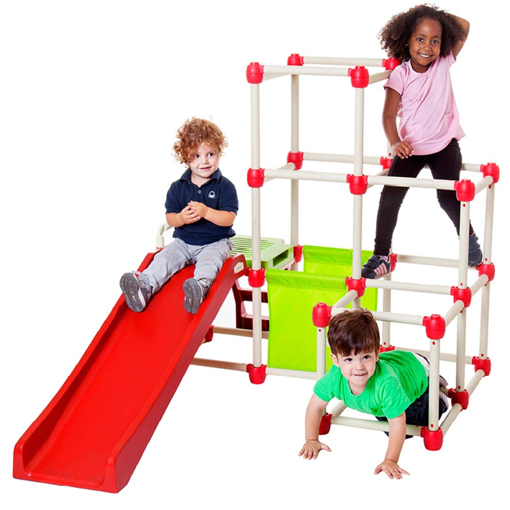 Lil' Monkey Everest Jungle Gym, Toddler Climber Playground - Folds Within Less than One Minute - Indoor and Outdoor Play Equipment For Kids by Lil' Monkey