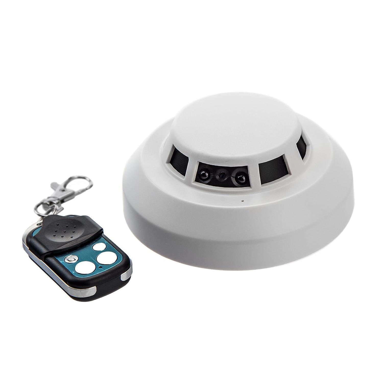 Detector de Humo cámara SM03 Humo melde Falsa con cámara de 5 megapíxeles cámara Oculta integrada, Sensor de Movimiento, visión Nocturna, 1 Lux, Sonido, ...