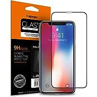 """Spigen, Vetro Temperato iPhone XS/X (5.8""""), Custodia compatibile, Copertura Totale, Compatibile con Face ID, 5.8 pollici, Protezione per Schermo iPhone XS/X, Pellicola iPhone X (2018) (057GL22986)"""