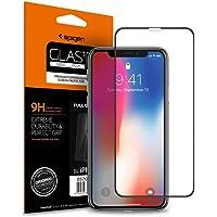 """Spigen, Vetro Temperato iPhone XS / X (5.8 """"), Vetro temperato 9H premium, Custodia compatibile, Copertura Totale, Compatibile con Face ID, Ultra Clear, 5.8 pollici, Protezione per Schermo iPhone XS / X, Pellicola Protettiva iPhone X / Pellicola iPhone XS (2018) (057GL22986)"""