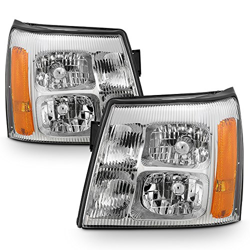 ACANII - For 2003-2006 Cadillac Escalade (HID Model) Headlights Headlamps Factory Style Lights Driver + Passenger Side