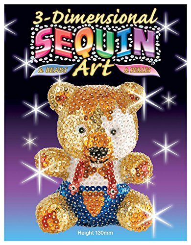 Sequin Art 3D, Teddy Bear, Sparkling Arts and Crafts 3D Kit