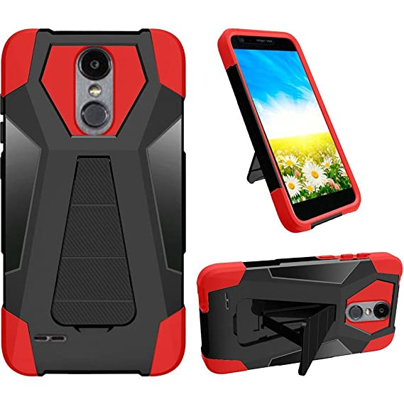newest collection 9ef05 df96c Phone Case for Straight Talk LG Rebel-2 4g LTE (Tracfone) / LG Risio-2 / LG  Fortune/Phoenix-3 GoPhone/LG Aristo Rugged Cover Wide Stand Wide Stand ...