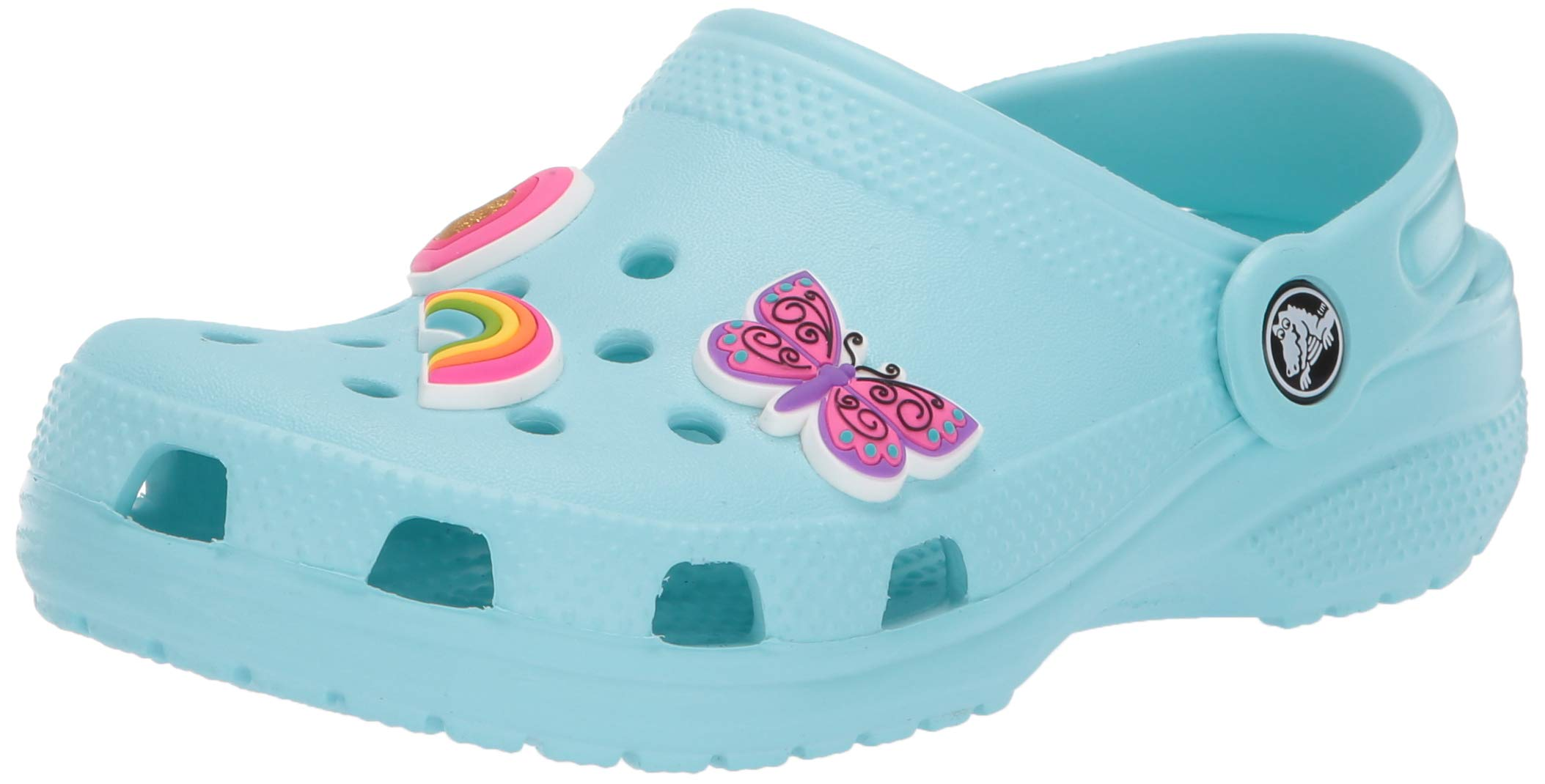 Crocs Classic Charm Clog, Ice Blue, 2 M US Little Kid by Crocs