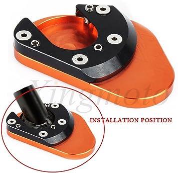 CNC Billet Large Side Stand Plate Base Pad KTM 125//200//390//690Duke RC125//200//390