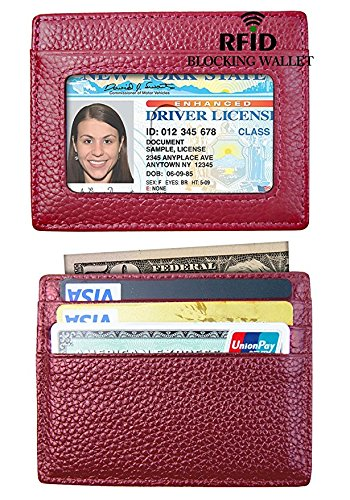 Minimalist RFID Blocking Leather Wallets