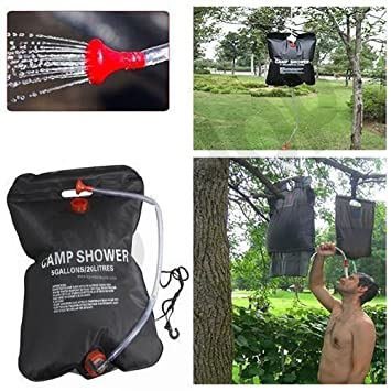 20L SOLAR POWER SHOWER PORTABLE SUN COMPACT OUTDOOR TRAVEL HEATED CAMPING WATER