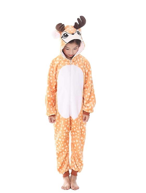 UMIPUBO Pijama Animal Niña Unisexo Cosplay Traje Disfraz Niña Animal Pijamas Onesies Ropa de Dormir Halloween y Navidad: Amazon.es: Ropa y accesorios