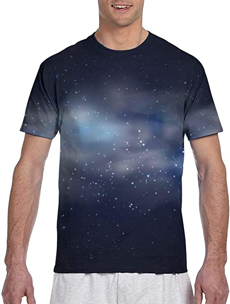Cosmic Space Fondo de Cielo Negro con Estrellas Azules Camisetas Deportivas de Secado rápido para Hombre: Amazon.es: Ropa y accesorios