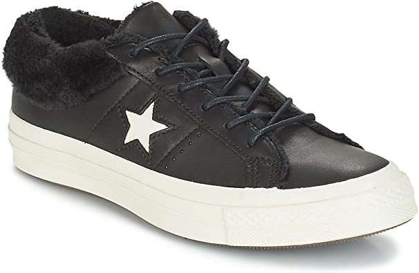 Converse One Star Leather Ox Baskets Mode Femmes Noir - 37 ...