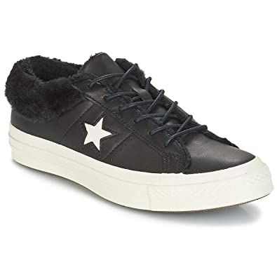Femmes Noir Ox Baskets Leather Converse Star 37 Mode One 2IEDW9H