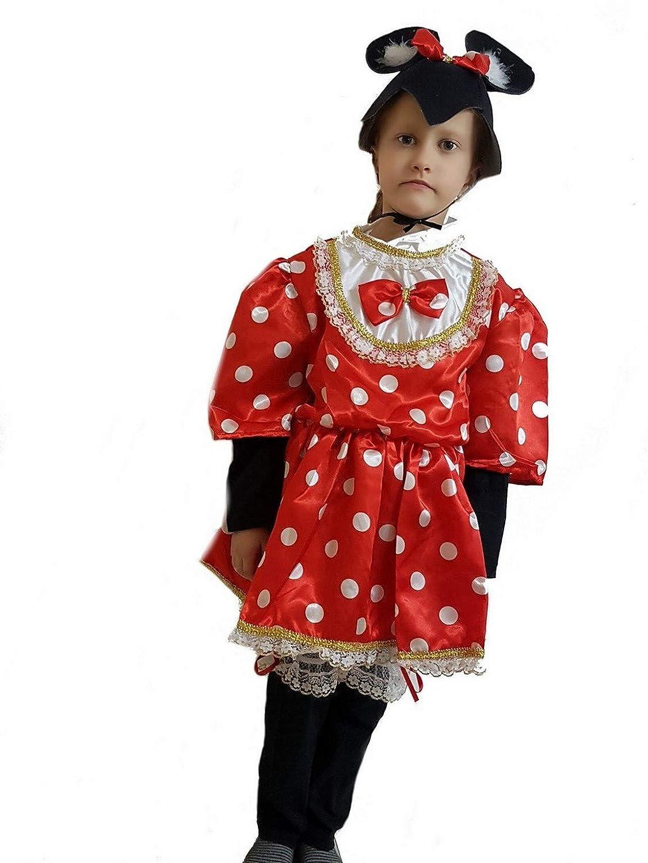 pequeños monelli Traje Minnie niña 3 años Vestido Minnie Mouse ...