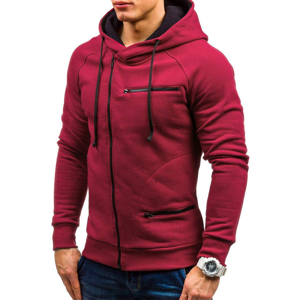 Winsummer Mens Hoodies Slim Fit Zipper Hooded Lightweight Zip-up Hoodies for Men Big and Tall Sweatshirts Coat at Amazon Mens Clothing store: