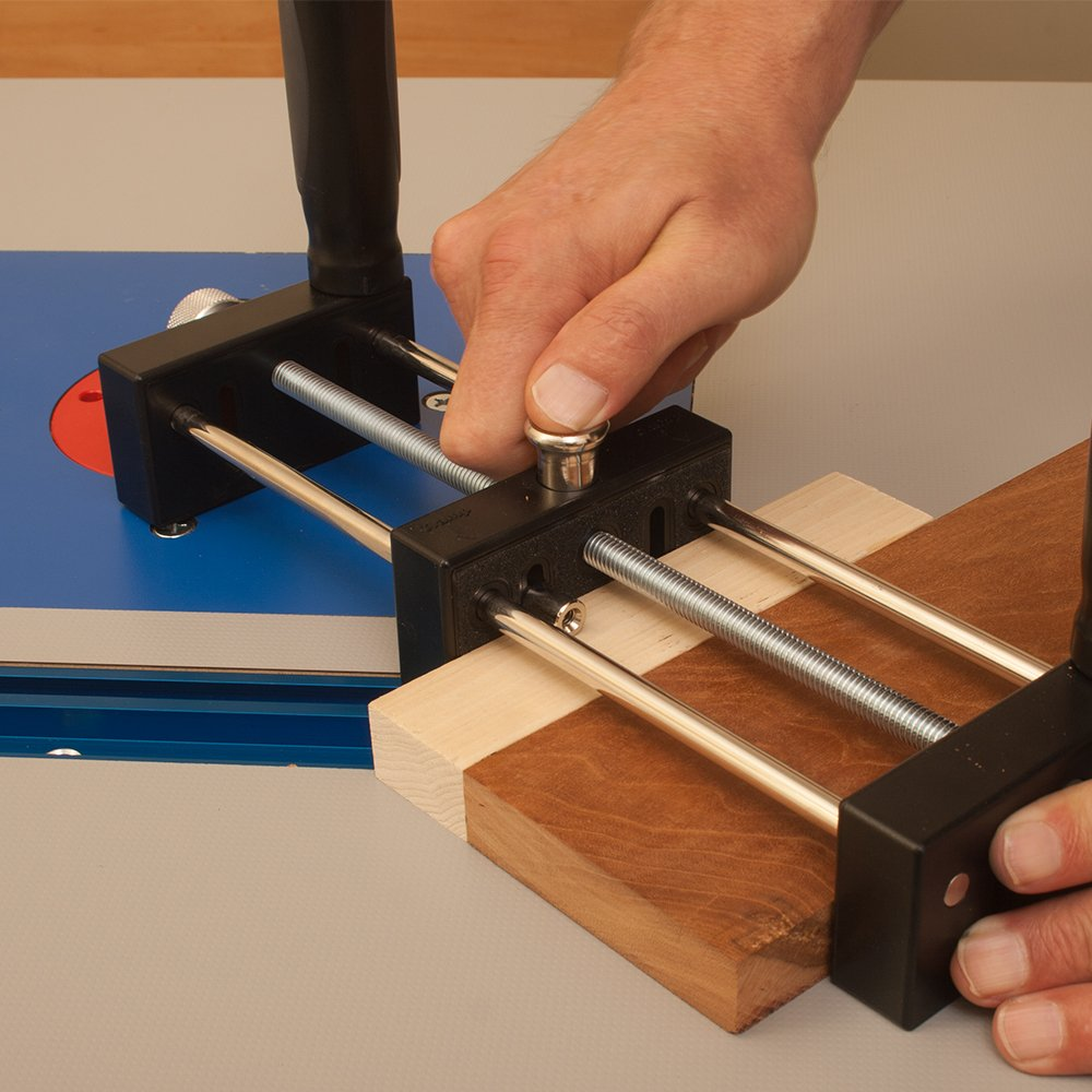 Small Stock or Piece Holder For Use With Router Tables. Safely Cut Smaller Pieces of Wood. Works With Any Router Table and Is Ideal For Free Hand Work by Peachtree Woodworking Supply (Image #7)