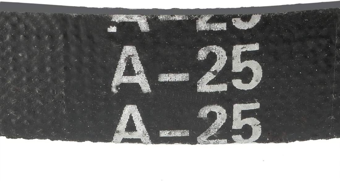 sourcing map A-24 V Belt Machine Transmission Rubber,Black Replacement Drive Belt.
