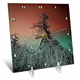 3dRose DYLAN SEIBOLD - PHOTO ABSTRACTION - Tree Dance Sky - 6x6 Desk Clock (dc_262693_1)