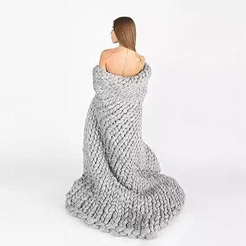 DIERDI Handgemachte Gestrickte Decke Riesen Chunky Wolle Warme Sofa ...