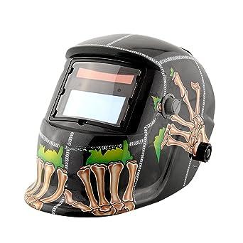 Tiptiper Máscara abrasiva del soldador, oscurecimiento automático máscara solar del casco de la soldadura con