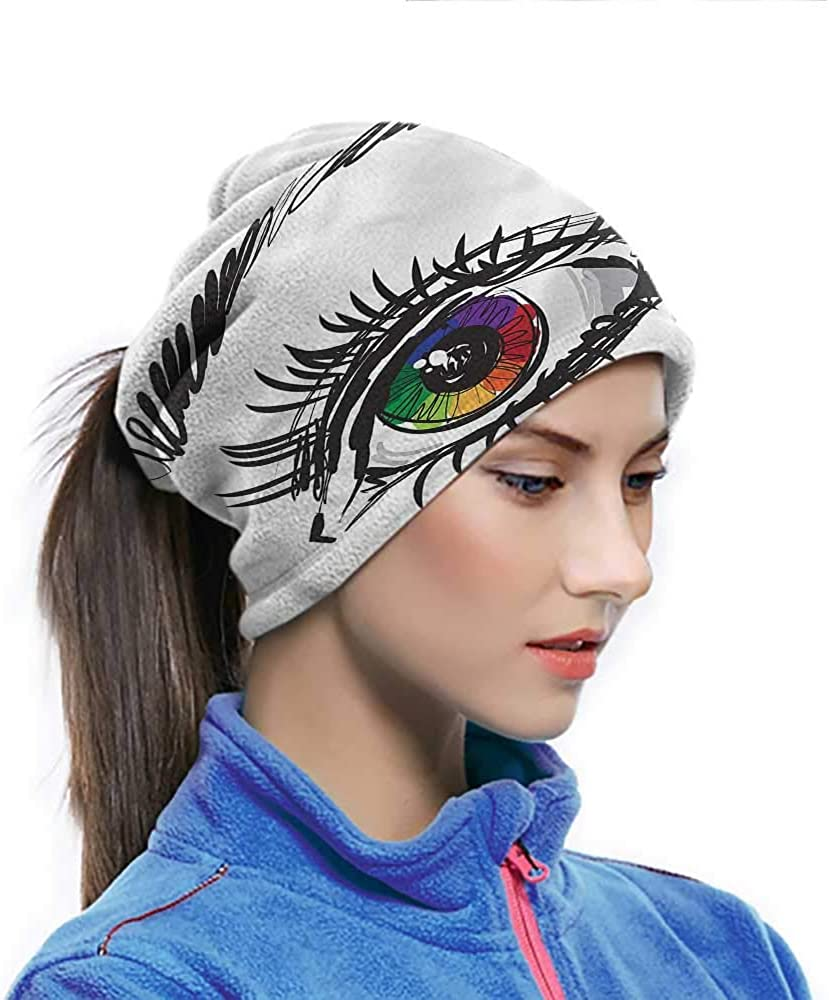 Bandanas For Women Eye Creative Personality Custom Scarf Colorful Pupil of a Woman 10 x 12 Inch