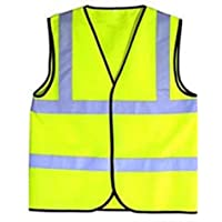 Niño de alta visibilidad amarillo chaleco reflectante para deportes Top