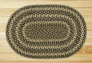 Earth Rugs 03-123 Ebony-Ivory-Chocolate Oval Rug