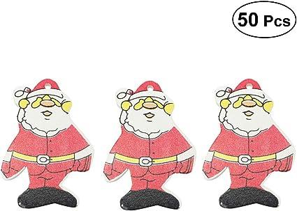 Amosfun 6 Piezas Colgante Decorativo de Coche de Madera Decoraci/ón para /Árbol de Navidad