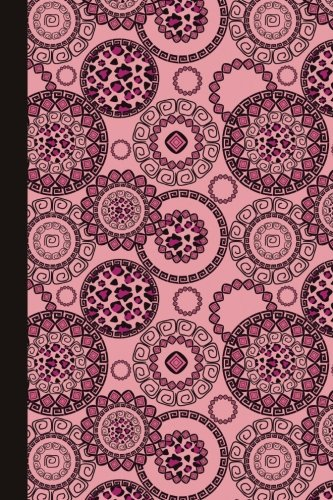 Journal: Animal Print Mandala (Pink) 6x9 - LINED JOURNAL - Journal with lined pages - (Diary, Notebook) (Mandala Design Lined Journals)