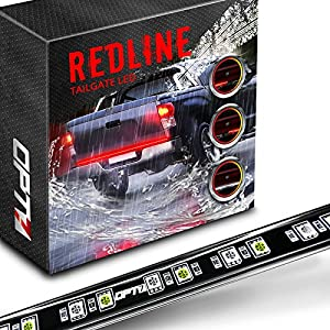 "OPT7 60"" Redline LED Tailgate Light Bar - TriCore LED - Weatherproof Rigid Aluminum No-Drill Install - Full Featured Reverse Running Brake Turn Signal - 2yr Warranty"
