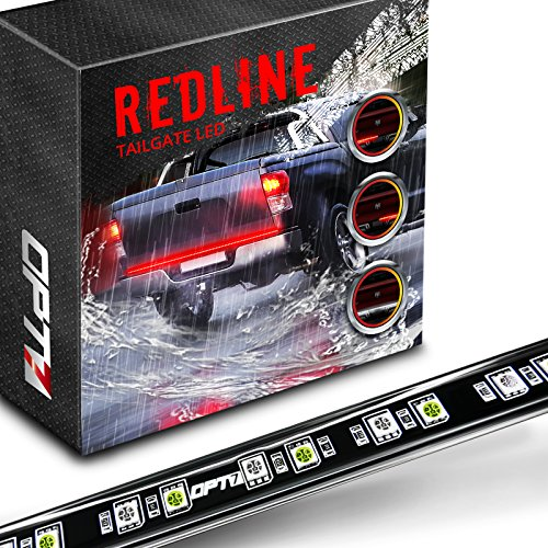 "48/60"" Redline LED Tailgate Light Bar - TriCore LED - Weatherproof Wilful Aluminum No-Drill Install - Full Featured Reverse Running Brake Turn Signal - 2yr Warranty [60-Inch]"