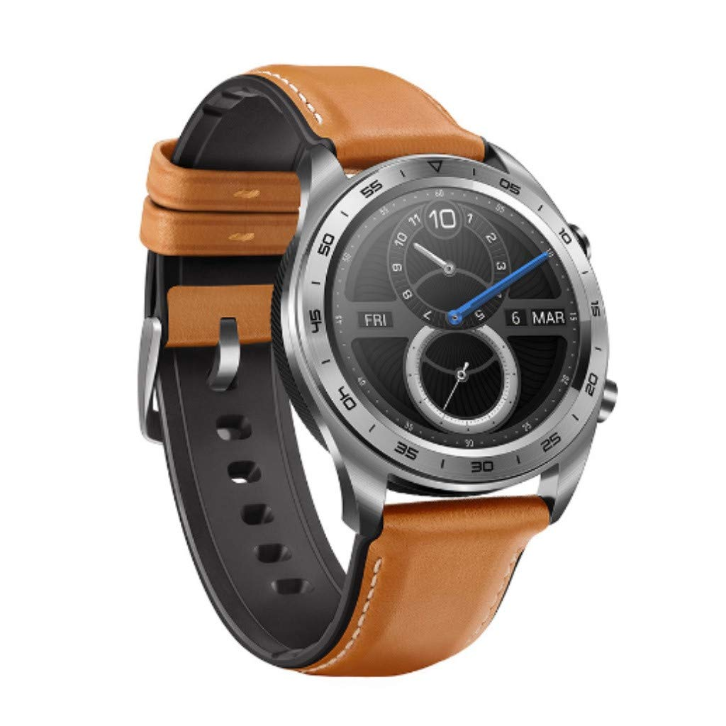 Huawei Honor Watch Dream Smart Watch, Sport Sleep Run Cycling Swimming GPS 1.2 inch AMOLED Color Screen 390×390 Watch - Slim Design/50 Meters Waterproof/NFC Payment/Smart Reminder (Brown) by Honor Watch