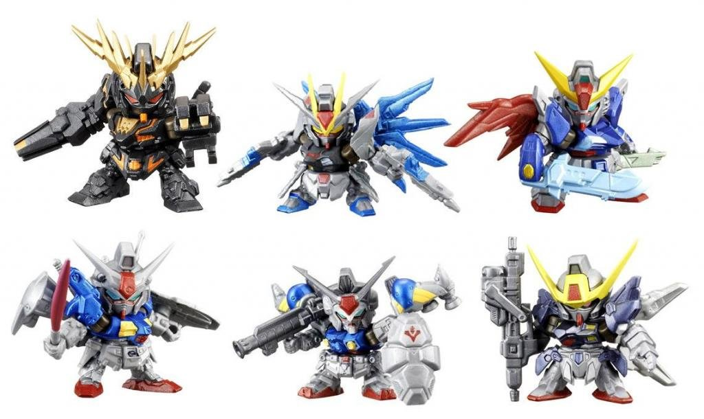 "Bandai Gundam Gashapon Senshi NEXT SP02 Minature Buildable Figures ~2"" Complete Set of 6"