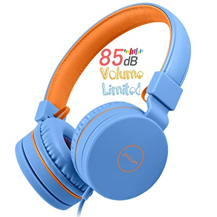 8030c301a35 Picun Kids Headphones, 85 dB Volume Limited Hearing Protection, Wired Over  Ear Adjustable Foldable