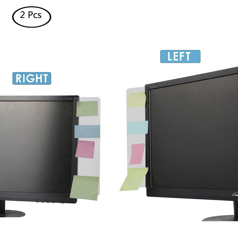 Boards//Sticky Boards f/ür Computer Bildschirm links und rechts 2/ Multifunktions Fashion Klar Farbe Computer Monitore Seite Panel//Memo Pads//Nachricht