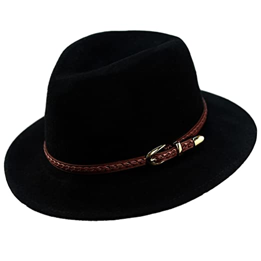 475f8ca1546 Verashome Felt Panama Hat-Adjustable 100% Wool Fedora Brim Wide Band  Vintage Fit for