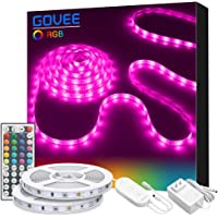 Govee 32.8ft RGB Colored Rope Light Strip Kit with Remote and Control Box for Room, Ceiling, Bedroom, Cupboard Lighting
