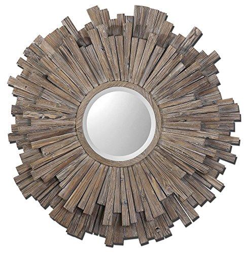 Uttermost 07634 Vermundo Wood Mirror, Brown