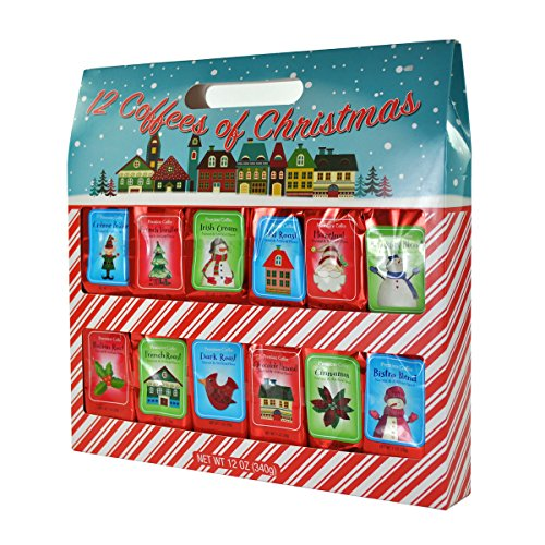 12 Coffees of Christmas Holiday Gift Set, 12 1 Ounce Flavors