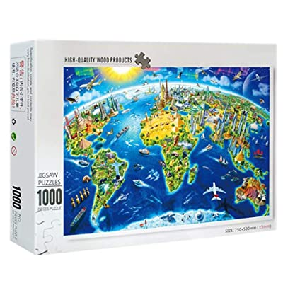 Jigsaw Puzzles 1000 Pieces,Parenting Underwater World Micro-Sized Puzzle Educational Puzzle Game Toys for Adult Kids: Toys & Games