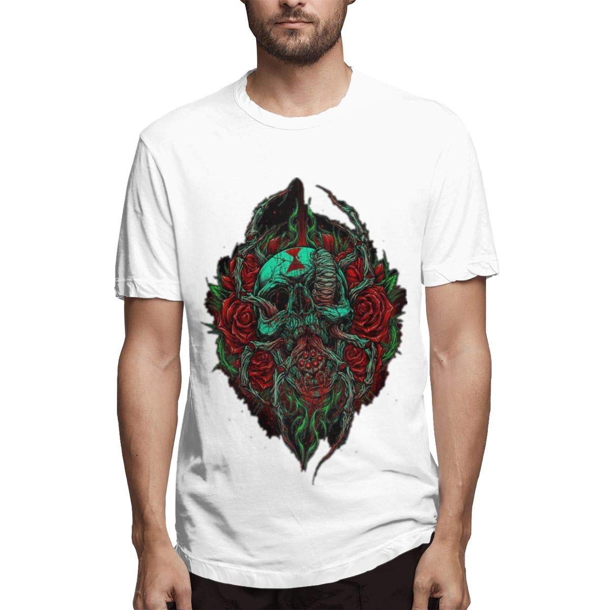 Lihehen Chelsea Grin Simple Casual Round Neck T Shirt