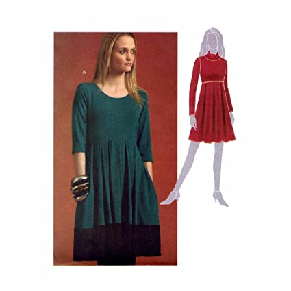 Misses Pullover Dress McCalls 5924 Sewing Pattern Size 6 - 8 - 10 - 12 -