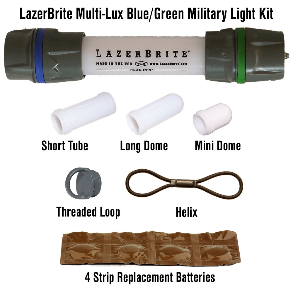 Lazerbrite Multi Lux Blue/Green Military Light Kit