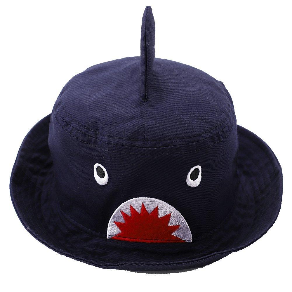dda01f97aa3 Amazon.com  Hisharry Toddler Boy Bucket Hat- Cute Baby Girl Kids Sun UV  Protection Shark Animal Hat  Clothing