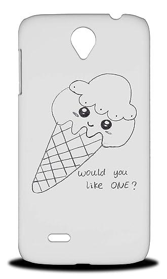 Amazoncom Cute Ice Cream Sketch Art Drawing Hard Phone Case Cover