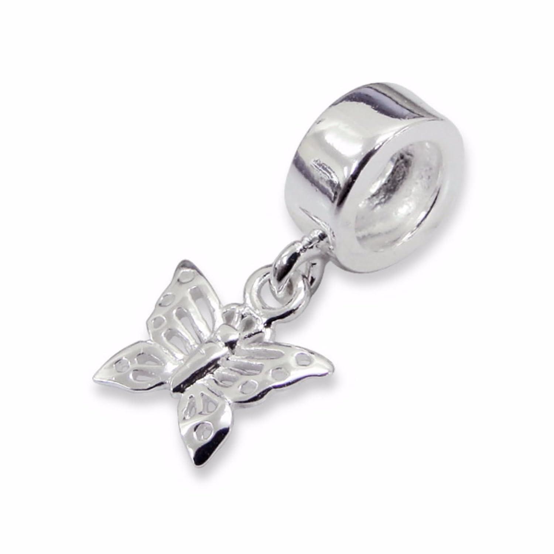 Sterling Silver TINKERBELL Hanging Bead For European Charm Bracelet Gift Box