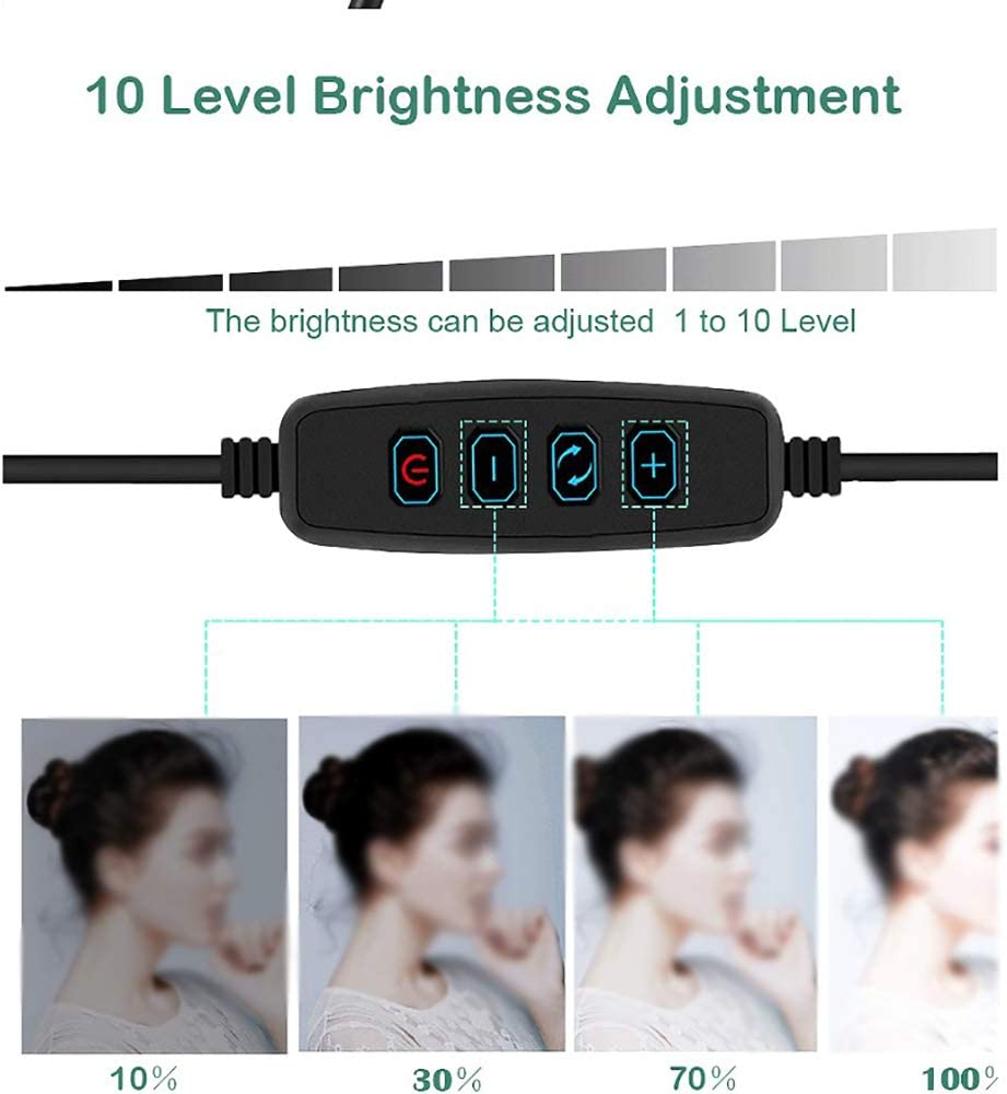 Adjustable Lazy Universal Three-Legged Bracket Two-in-One Desktop Portable Beauty Live Photography Does Not Hurt The Eye LED Fill Light