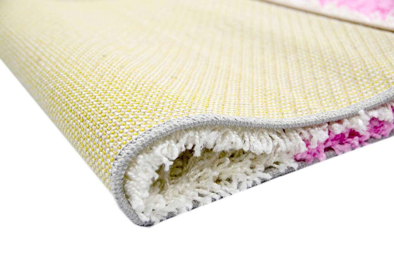 Carpetia Shaggy Shaggy Shaggy Teppich Hochflor Langflor Bettvorleger Wohnzimmer Teppich Läufer Karo pink rosa grau Creme Größe 160x230 cm 4dadd7