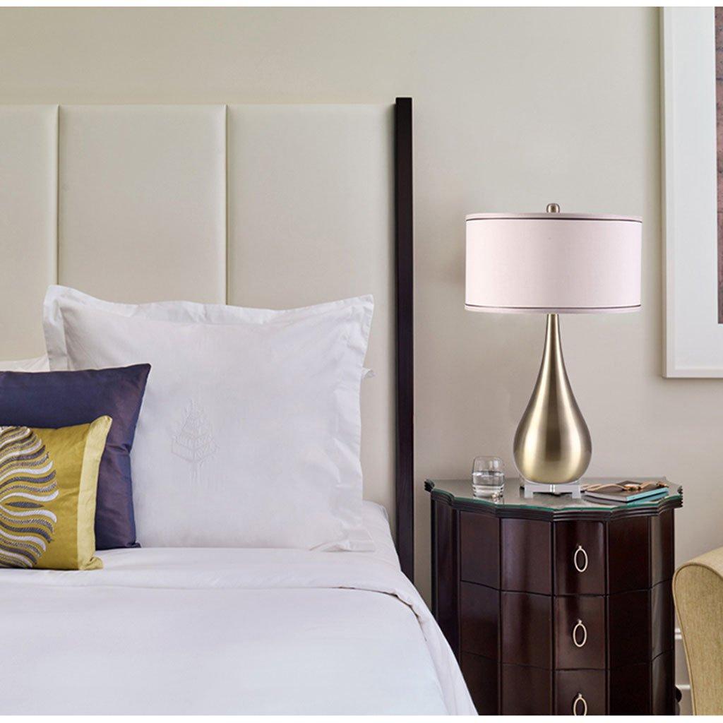 @テーブルランプ 寝室リビングルーム錬鉄製テーブルランプアメリカの創造的なドリップアイロンランプポストモダンブロンズメタル B07CMT1H2K