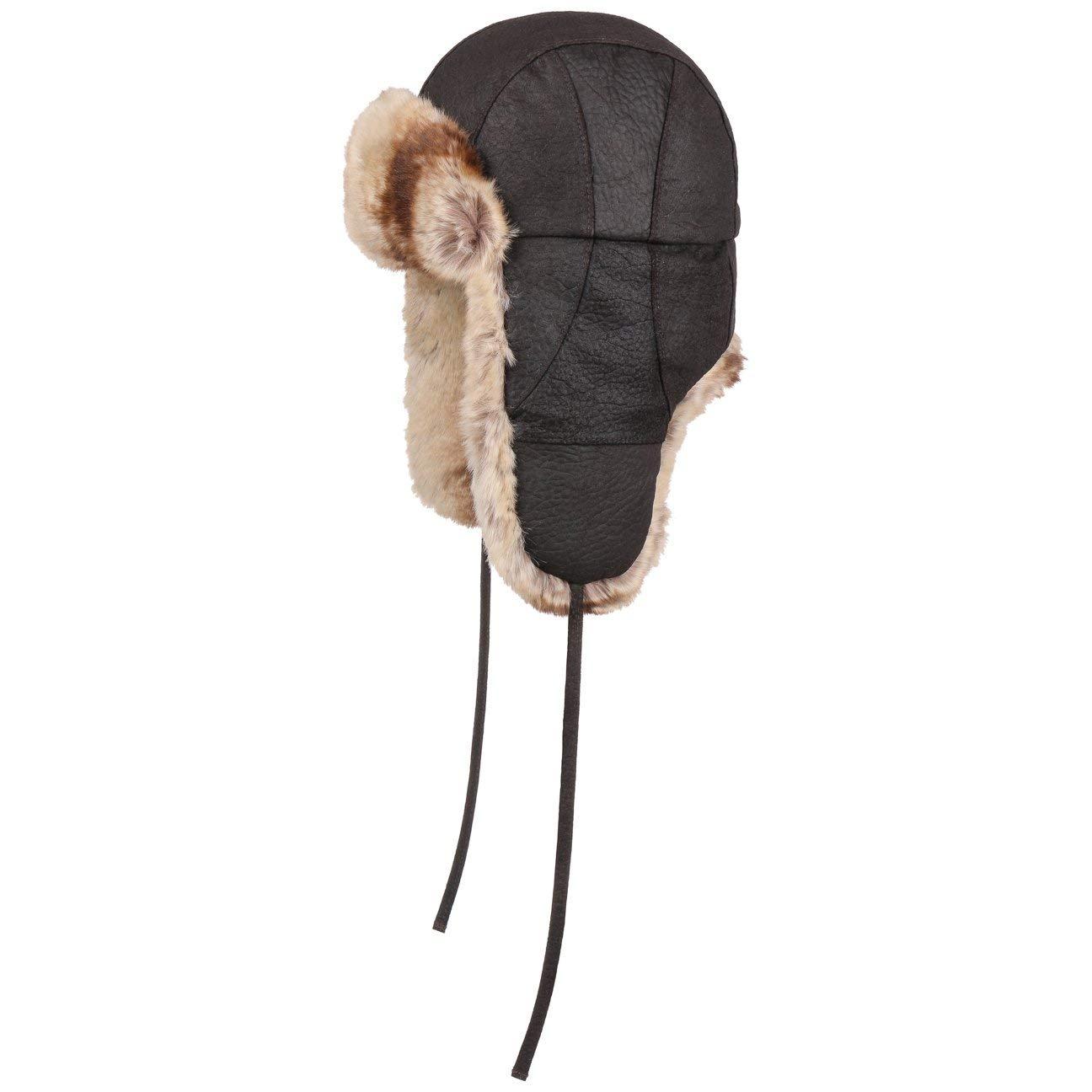 Stetson Shrunken Pigskin Aviator Hat Winter (L (58-59 cm) - Dark Brown)   Amazon.co.uk  Clothing 21cd192eea7c