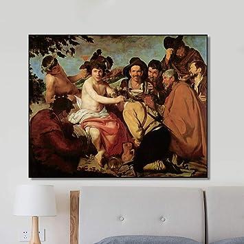 Danjiao Lienzo Velásquez Pintura Caligrafía España Clásico Arte De ...